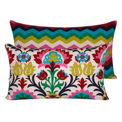 Colorful Throw Pillow Cover - Don't forget to add fun pillows to the couch or a few on outdoor seats!