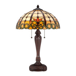 "Quoizel - Quoizel TF1440T Tiffany 16"" Height 2 Light Table Lamp - Specifications:"