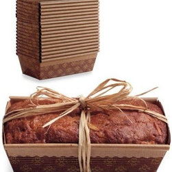 Paper Loaf Molds - It would be so much prettier to bake and give gifts in these paper loaf pans than the foil ones.