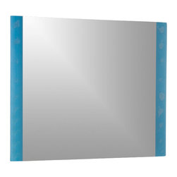 Decor Wonderland Mirrors - Decor Wonderland The Spa Frameless Bathroom Mirror - Get the spa look and feel in your bathroom with this modern frameless bathroom mirror featuring an etched and bubble design on frosted glass.