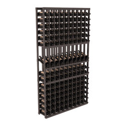 Wine Racks America - 10 Column Display Row Wine Cellar Kit in Redwood, Black Stain + Satin Finish - Make your 10 best vintages the focal point in your wine cellar. Display rows allow presentation of favored labels and encourages simple cellar organization. Our wine cellar kits are constructed to industry-leading standards. You'll be satisfied. We guarantee it.