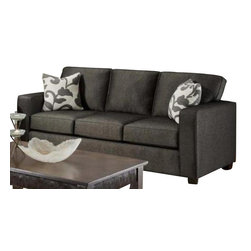 Chelsea Home Furniture - Chelsea Home Bergen Sofa Upholstered in Talbot Onyx - Bergen Sofa Upholstered in Talbot Onyx belongs to Verona VI collection by Chelsea Home Furniture.