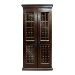 Vinotemp VINO-SONOMA440L Sonoma LUX 440 Model Wine Cabinet w/ Cooling - 7202A premium cherry ...