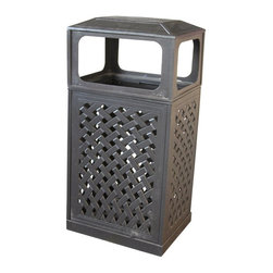 Darlee - Darlee Trash Receptacle Multicolor - 201080-28 - Shop for Trash Receptacles from Hayneedle.com! Designed to impress the Darlee Trash Receptacle combines the beauty of lattice design with the strength and durability of cast aluminum. It boasts a classic hand-applied powder-coated antique bronze finish; your only concern will be emptying out the insert once it's full.About DarleeSince 1993 Darlee has developed a wide variety of products to help you create your ideal outdoor-living environment. Working with high-quality materials Darlee achieves a large spectrum of styles that covers a range of interests as well as aesthetic tastes. From classic to contemporary from conversation sets to dining sets to fire pits Darlee has you covered for outdoor entertaining. Because the company knows good business is built on trust and integrity Darlee focuses on reliable quality construction and remains committed to providing customers with the best service possible.