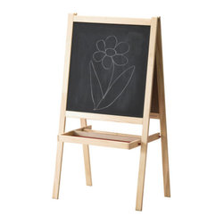 IKEA of Sweden - Måla Easel - I have the Måla easel from Ikea for my boys. I don't think you can beat the price for what you get. Features include a chalkboard, a white board, a tray to hold supplies and a place to hold the accompanying paper roll.
