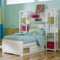 Elite Reflections Bookcase Storage Platform Bed