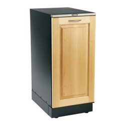 Broan 15XEWT Programmable 15W in. Trash Compactor - Wood - The Broan 15XEWT Programmable 15W in. Trash Compactor - Wood provides an out-of-the-way place to make your kitchen duties a whole lot simpler. This compact unit comes with a wood-trim door pan to easily integrate into your cabinet décor featuring sound insulation and a child-lock; door can be installed for either left- or right-hand opening with 170-degree swing. The compactor provides 3000 lbs. of crushing power to reduce the contents of the 1.55 cu. ft .capacity bin by a 6:1 ratio making trips to the garbage can a rarer occurrence. Full-extension ball-bearing glides provide easy access to the bin and make changing back a quick task. An integrated storage compartment provides a handy place for extra bags. Product Specifications Amps 10 Capacity: 1.55 cubic foot Depth: 21.5 inches Height: 34.125 inches Motor: 3/4 Horsepower Door Opening: Reversible Volts: 240 Weight: 165 lbs. Compaction Force: 3000 lbs. Use: Residential Warranty: 1 year warranty About Broan With humble beginnings spanning almost a century Broan is a household name that you can trust. Founded in 1932 Broan thrived in the Depression Era by providing products that no home can do without. Today Broan has expanded its operations worldwide producing marketing and selling both domestically and internationally. Whatever your needs from ventilation units to heaters to trash compactors and more Broan is here to make your life more comfortable and more convenient.