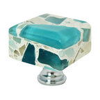 "Pierre Habitat - Architectural Cabinet Knob C - Make all your home cabinetry ""pop"" with these stylish Architectural Cabinet knobs C from Pierre Habitat. Made with recycled glass that is totally green and sustainable. These pulls not only look good, they are good - for both you and the planet.  Planet-Friendly Hardware designed for you by Pierre Habitat. Sold Single."