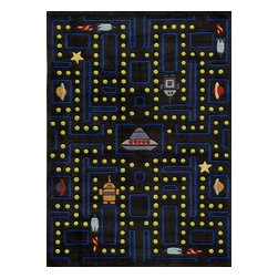 Momeni - Kids Lil Mo Whimsy 8'x10' Rectangle Arcade Black Area Rug - The Lil Mo Whimsy area rug Collection offers an affordable assortment of Kids stylings. Lil Mo Whimsy features a blend of natural Arcade Black color. Hand Tufted of 100% Mod-Acrylic the Lil Mo Whimsy Collection is an intriguing compliment to any decor.