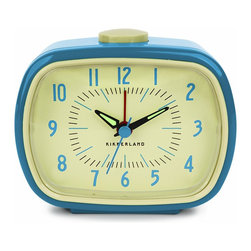 Kikkerland Retro Alarm Clock, Blue - I wouldn't mind waking up to this alarm clock every morning.