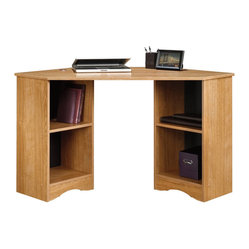 Sauder - Sauder Beginnings Corner Desk in Highland Oak Finish - Sauder - Home Office Desks - 413074 -