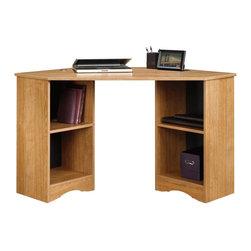 Sauder - Sauder Beginnings Corner Desk in Highland Oak Finish - Sauder - Home Office Desks - 413074
