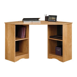 Sauder - Sauder Beginnings Corner Desk in Highland Oak Finish - Sauder - Home Office Desks - 413074