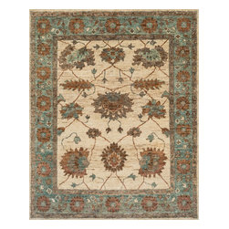 """Loloi Rugs - Loloi Rugs Empress Collection - Ivory / Aqua, 2'-0"""" x 3'-0"""" - Inspired by our top-selling Xavier rugs, the Empress Collection features the same 100% jute hand-knotted constructionreimagined in more versatile transitional designs. Each piece offers a thick-bodied pile, chunky knots, and beautifully saturated colors."""