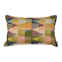 "A Patchy Pillow Cover - Scatter the A Patchy Pillow among your existing cushions for a burst of color or pop it on your bed all by its lonesome and watch it shine.The fabric backing is natural, has a concealed zipper and a .5"" stitched edge. Made from 100% cotton linen blend fabric."