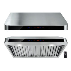 "AKDY - AKDY AK-Z1801A Under Cabinet Range Hood Stainless Steel Kitchen Vent Hood 900CFM - The AKDY 1801A 30"" under cabinet range hood removes cooking odors from your kitchen quickly using its 3-speed, 900 CFM centrifugal exhaust fan. The baffle filter helps eliminate grease from the air and is dishwasher safe for easy cleanup. Remote control included. Model available in 30"" and 36""."