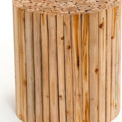 Lakeside End Table - Woodland Creek Furniture - Available in round or square