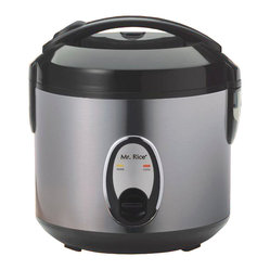 Rice Cooker with Stainless Body, 4-Cup