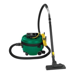 Edmar Corporation - Quiet Lgtwt Canister Vacuum - Bissell BigGreen Commercial Canister Vacuum designed for commercial cleaning companies  Salons  Spas  Barber Shops  Hotels  Schools  Cafes  Restaurants and Healthcare professionals.  Versatile machine - Cleans carpet  upholstery and more; On-board cleaning tools included: crevice tool  upholstery tool  dusting brush  combination floor tool  metal telescoping wand; Combo floor tool - Control the brush height while cleaning different floor types; Suction power options Control at wand; Quiet and lightweight;  Disposable 1.94-gallons capacity dirt bag; 1200 watts; 50' cord; 1.6 HP motor.  This item cannot be shipped to APO/FPO addresses. Please accept our apologies.