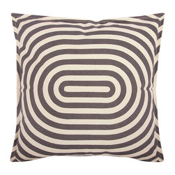 Thomas Paul - Geo/Metric 1 Canvas Pillow - Charcoal - Thomas Paul - The 100% cotton canvas pillow featuring a signature thomaspaul design in modern shapes and bold hues is the perfect way to kick up any room design. Place them on a couch, a chair, your bed, anywhere! Features a reversible print and hand silk-screened design. Includes down feather insert.
