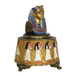 TLT - 4.5 Inch Hand Painted Resin Egyptian Design King Tut Music Box - This gorgeous 4.5 Inch Hand Painted Resin Egyptian Design King Tut Music Box has the finest details and highest quality you will find anywhere! 4.5 Inch Hand Painted Resin Egyptian Design King Tut Music Box is truly remarkable.