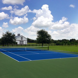 Tennis Court - Tennis Court, hard surface, US open colors, great space to have fun and exercise and fitness.