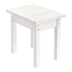 C.R. Plastic Products - C.R. Plastics Small Table In White - Can be used for residential or commercial use, Ergonomically designed, Heavy 78 gauge plastic lumber 12 used by competitors, All stainless steel hardware, No painting, No slivers, No Rot, Completely waterproof