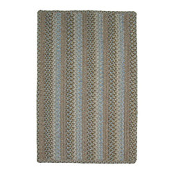 Homespice - Homespice Skyland Braided Rectangle Rug - Embrace the magic of wide open spaces with this landscape of cool blue, olive green, cream, and sandy rose. There is no need to compromise beauty for durability. Our Ultra Durable indoor/outdoor rugs are amazing. They resist stains from food, pets, and liquids, while adding color, texture and interest to all your living spaces. This amazing absorbent material leaves the surface below dry with most moderate spills. To clean, simply run under water in your sink or use a hose. These Ultra Durables are thinner and flatter and feature a vertical braid with anti-skid backing. Perfect for kitchens, baths, and entry ways.