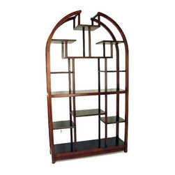Wayborn - Arch Top Etagere in Brown Birchwood - Hand-crafted. Multi-sized compartments. Made from Birchwood. Smooth finish. 40 in. W x 12 in. D x 72 in. H (53 lbs.)This classic wooden ̩tag̬re is the perfect piece for family rooms, living rooms, or bedrooms. Featuring a semicircle theme, this display unit has many multi-sized compartments for displaying photographs, figurines and trinkets. This beautiful wooden ̩tag̬re is hand crafted and sure to add that little bit of flair to tie your space together.