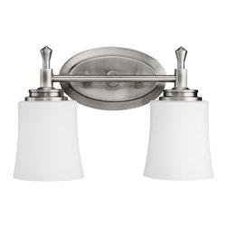 Kichler Lighting - Kichler Lighting 5360NI Wharton Brushed Nickel 2 Light Vanity - Kichler Lighting 5360NI Wharton Brushed Nickel 2 Light Vanity