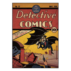 York Wallcoverings - Batman First Issue DC Comic Book Cover Giant Wall Accent - Features: