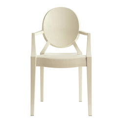 East End Imports - Philippe Starck Style Ghost Arm Chair White - Combine artistic endeavors into a unified vision of harmony and grace with the ethereal Ghost Chair. Allow bursts of creative energy to reach every aspect of your contemporary living space as this masterpiece reinvents your surroundings. Surprisingly sturdy and durable, the Philippe Stack Style Ghost Arm Chair is appropriate for any room or outdoor setting. Pure perception awaits, as shining moments of brilliance turn visual vacuums into new realms of transcendence.