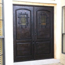 Wrought Iron Doors - Wrought iron 2 panel speakeasy door by The Front Door Co.