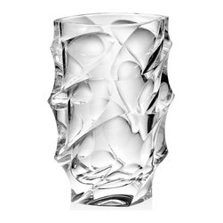 "Godinger Silver - Cinzia Vase 11"" - This clear cut crystal collection is designed with strikingly deep facets that brilliantly reflect light. Each piece has exceptionally thick walls, giving it a sumptuous look and feel."