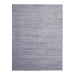 """Calvin Klein Home - Calvin Klein Home CK18 Lunar LUN1 3'6"""" x 5'6"""" Platinum Area Rug 42762 - Alternating high and low-lying pile yarns highlighted in a rich semi precious tones.claret. Plush, velvet-like fibers are combined in an understated graphic manner, forming a sculptural ribbed pattern emluating the look of a tibetan rug."""