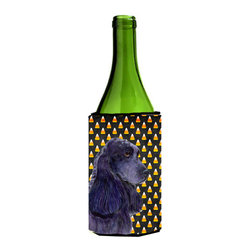 Caroline's Treasures - Cocker Spaniel Candy Corn Halloween Portrait Wine Bottle Koozie Hugger - Cocker Spaniel Candy Corn Halloween Portrait Wine Bottle Koozie Hugger Fits 750 ml. wine or other beverage bottles. Fits 24 oz. cans or pint bottles. Great collapsible koozie for large cans of beer, Energy Drinks or large Iced Tea beverages. Great to keep track of your beverage and add a bit of flair to a gathering. Wash the hugger in your washing machine. Design will not come off.