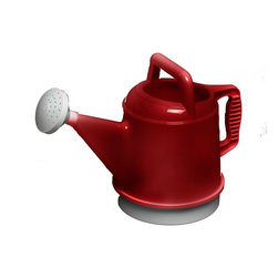 Bloem - Bloem 2.5 Gallon Deluxe Watering Can Union Red DWC212, 6 pack - Easy to handle and grip