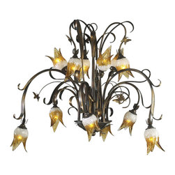 Cyan Design - Twelve Lamp Chandelier-6406-12-93 - Twelve lamp chandelier - venetian iron