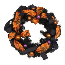 Haunted Halloween Wreath - 18 in.