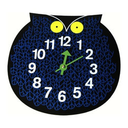 Vitra - Nelson Owl Clock - Help your little night owl know when it's time to go to bed. This playful clock was created by industrial design icon George Nelson in the mid-20th century, yet looks thoroughly modern.