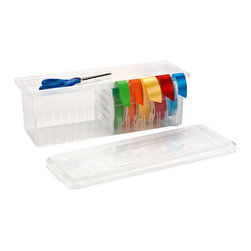 Clear Ribbon Box - I have an out-of-control ribbon situation in my craft room. This would totally help.