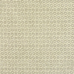 Small Circles Upholstery Fabric, Oyster - This durable woven fabric has a cheerful look and is suitable for upholstery, cornice/headboards, and other decorative uses.