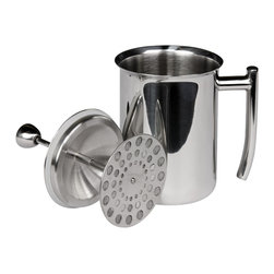 Frieling - Milk Frother, Mirror Finish, 18 Ounces - Beautiful stainless steel frother, transforms ordinary milk into creamy froth in seconds. Create cappuccino, caffè latte or hot chocolate. 18 fl. oz.