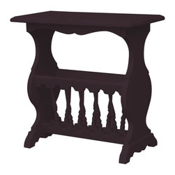 EuroLux Home - New Magazine Magazine Rack Walnut Painted - Product Details