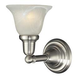Elk Lighting - EL-84000/1 Vintage Bath 1-Light Glass Bath Bar in Satin Nickel - 1-light glass bath bar in satin nickel finish