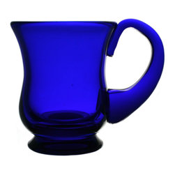 Lavish Shoestring - Consigned Bristol Blue Glass Tankard, Vintage English - This is a vintage one-of-a-kind item.
