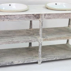 traditional bathroom vanities and sink consoles by Candelabra