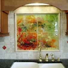 Contemporary Kitchen by Designer Glass Mosaics
