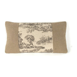 Zentique - French Pillow, Village 2 - The French Pillow collection features a natural linen pillow with variations to choose from.