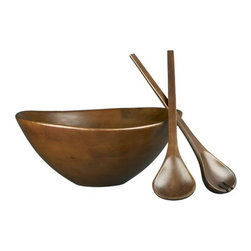 Bosco Mango Wood Salad Bowl And Salad Servers Set - This mango wood serving set is a classic that could last for many years if cared for properly. My parents have a similar bowl, and I don't know how many salads were tossed in it at our table growing up!